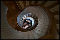 Children standing at the bottom of stairwell, Point Loma Lighthous. San Diego, California, USA