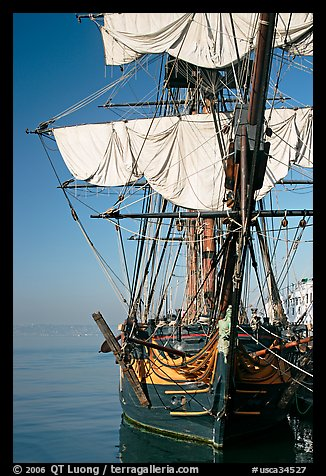 HMS Surprise, used in the movie Master and Commander, Maritime Museum. San Diego, California, USA