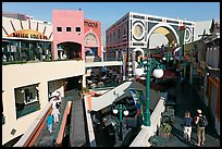 Horton Plaza shopping center by daylight. San Diego, California, USA