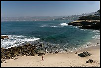 Girls on beach, the Cove. La Jolla, San Diego, California, USA