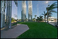 Reflections in  Crystal Cathedral, home of Televangelist Robert Schuller. Garden Grove, Orange County, California, USA ( color)