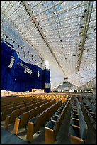 Interior of the Crystal Cathedral, with seating for 3000. Garden Grove, Orange County, California, USA ( color)