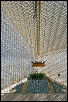 Interior structures of the Crystal Cathedral. Garden Grove, Orange County, California, USA ( color)
