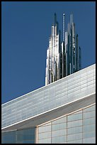Detail of Bell Tower and Crystal Cathedral. Garden Grove, Orange County, California, USA ( color)