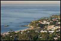 Coast seen from the hills. Laguna Beach, Orange County, California, USA