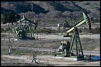 San Ardo Oil field. California, USA ( color)