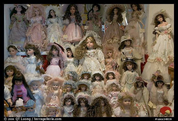 Danish dolls at Andersen gift shop. California, USA
