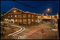 Monterey Canning Company building at night. Monterey, California, USA ( color)