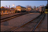 Railroad tracks and cars, Old Sacramento. Sacramento, California, USA ( color)