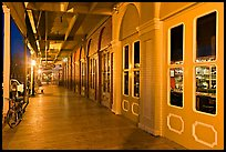 Old Sacramento gallery at night. Sacramento, California, USA ( color)