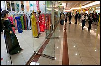 Ao Dai Vietnamese traditional formal dresses, Grand Century mall. San Jose, California, USA