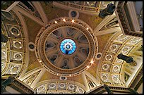 Dome of Cathedral Saint Joseph from inside. San Jose, California, USA ( color)