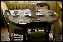 Dining table. Winchester Mystery House, San Jose, California, USA