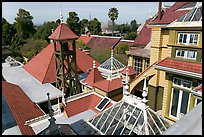 Rooftops. Winchester Mystery House, San Jose, California, USA