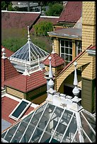 Roofs of some of the 160 rooms. Winchester Mystery House, San Jose, California, USA