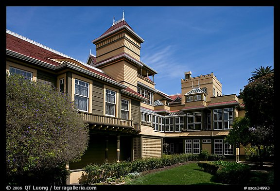Garden and courtyard. Winchester Mystery House, San Jose, California, USA