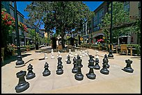 Giant Chess set. Santana Row, San Jose, California, USA ( color)