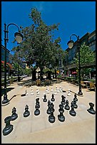 Chess set. Santana Row, San Jose, California, USA ( color)