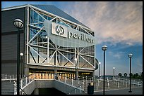 Arena (now HP Pavilion at San Jose), sunset. San Jose, California, USA (color)