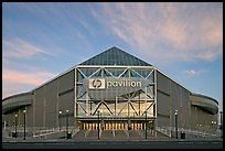 San Jose HP Pavilion, sunset. San Jose, California, USA