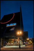 San Jose Rep Theatre at dusk. San Jose, California, USA