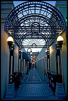 Alley and gate leading to Castro Street, Mountain View. California, USA ( color)