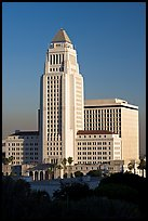 Los Angeles City Hall in Art Deco style. Los Angeles, California, USA ( color)