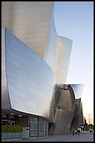 Frank Gehry desined Walt Disney Concert Hall exterior. Los Angeles, California, USA (color)