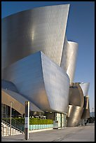 Silvery architecture of the Walt Disney Concert Hall, early morning. Los Angeles, California, USA (color)