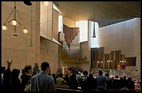 Interior of the Cathedral of our Lady of the Angels during Sunday service. Los Angeles, California, USA ( color)