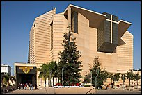 Ochre mantle of Cathedral of our Lady of the Angels. Los Angeles, California, USA ( color)