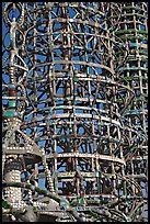 Detail, Watts towers. Watts, Los Angeles, California, USA (color)