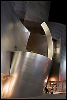Walt Disney Concert Hall at night. Los Angeles, California, USA (color)