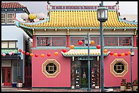 Building in Chinese style, Chinatown. Los Angeles, California, USA ( color)