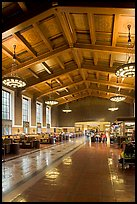 Interior of Union Station. Los Angeles, California, USA (color)