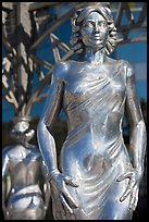 Statue of actress  Dorothy Dandridge. Hollywood, Los Angeles, California, USA ( color)