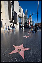 Star bearing the name of Antony Hopkins on the walk of fame. Hollywood, Los Angeles, California, USA