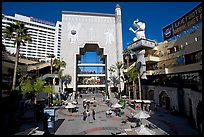 Babylon court of the Hollywood and Highland complex. Hollywood, Los Angeles, California, USA