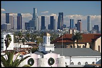 Downtown skyline. Los Angeles, California, USA (color)