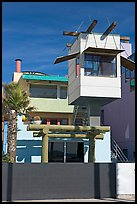 Beach house with lookout tower. Venice, Los Angeles, California, USA ( color)
