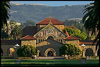 Memorial Church, main Quad, and foothills. Stanford University, California, USA (color)