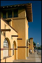 Burlingame historic train depot. Burlingame,  California, USA