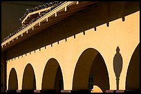 Arches, Burlingame train station. Burlingame,  California, USA ( color)