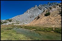 Stream and colorful rocks on Inconsolable Range. California, USA ( color)