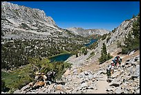 Valley and Long Lake, John Muir Wilderness. California, USA (color)