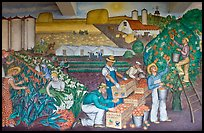 Public Works of Art Project mural, Coit Tower. San Francisco, California, USA ( color)