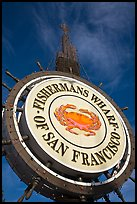 Fishermans Wharf sign against sky. San Francisco, California, USA ( color)