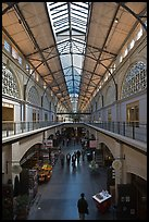 Main gallery inside Ferry Building. San Francisco, California, USA ( color)