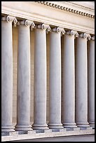 Columns in the forecourt, Legion of Honor, early morning. San Francisco, California, USA