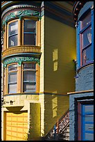 Victorian houses detail, Haight-Ashbury District. San Francisco, California, USA ( color)